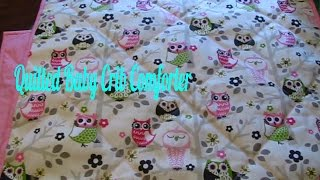 Quilted Baby Crib Comforter ~ How To