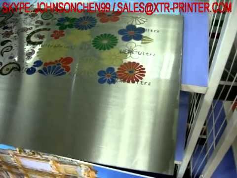 direct to print on tin metal uv seiko heads inkjet pad