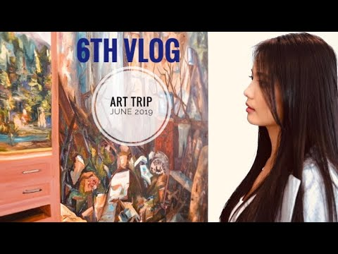 6 ART GALLERIES IN 1 DAY ❗️😍 (Cinematic Art Trip Vlog | June 2019)