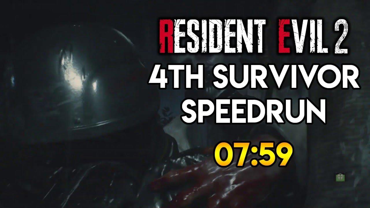 Resident Evil 2 Remake Hunk Speedrun 07 59 Youtube
