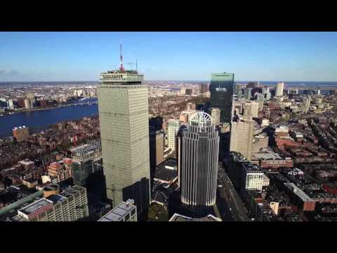 Boston Skyline and Prudential Tower with Dji Phantom 3