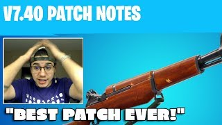 Full 7.40 Fortnite Update Just Released The Greatest Patch!