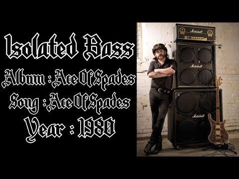 Motörhead - Ace Of Spades [ISOLATED BASS TRACK]
