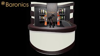 Barney V2, the cocktail-oriented robot bar is largely completed.