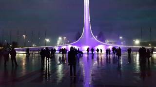 Цветомузыкальное шоу фонтанов в Олимпийском парке. Сочи. ч1