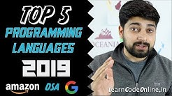 Top 5 programming language in 2019 with Learning Paths