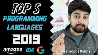 Top 5 programming language in 2019 with Learning Paths by Hitesh Choudhary