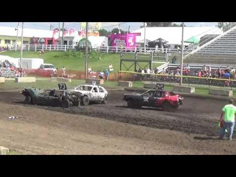 DuPage County Fair Demolition Derby Bonestock Day Show Feature