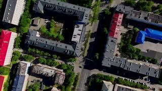 4K Murmansk Russian city aerial view