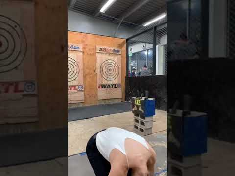 Randumb - Woman Has Extremely Close Call While Throwing Axe