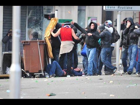 09/10 Marseille - Paris SG Riot and clash after postponement