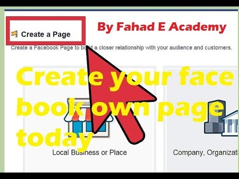 How to create a Face Book Page for Website  / YouTube channel  with completed setting 2017