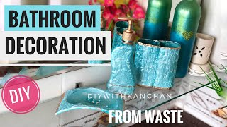 Best out of waste/Bathroom Makeover/Bathroom Accessories Making/Shilpkar Clay/Spray paint
