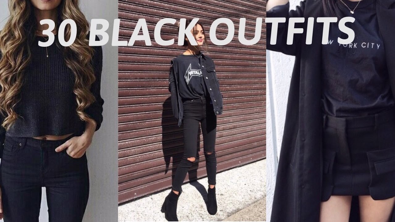 30 black outfits inspired