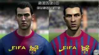 Fifa 13 vs Fifa 12 Face Comparison - Fc Barcelona