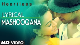 Heartless Mashooqana Lyric Video | Adhyayan Suman, Ariana Ayam