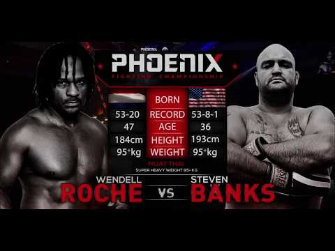 Wendell Roche vs Steven Banks Muay Thai fight highlights at Phoenix 2: Beirut.