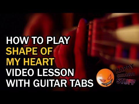 How to Play - Shape of my Heart - Sting -  with GUITAR tabs