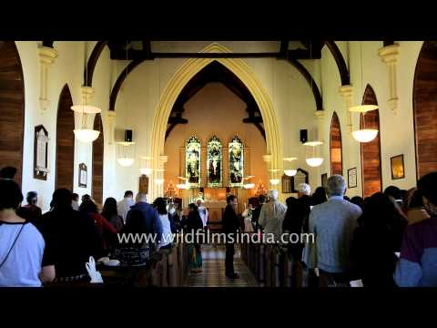 Church congregation giving offerings and tithes to God in Landour