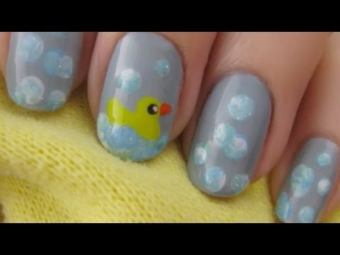 Cute Rubber Duck Nails Cutepolish Disney Style Youtube