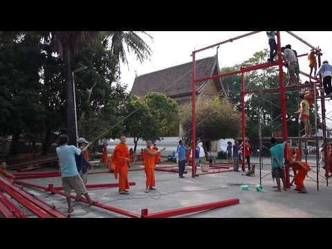 Pavilion Construction at Wat Xieng Thong