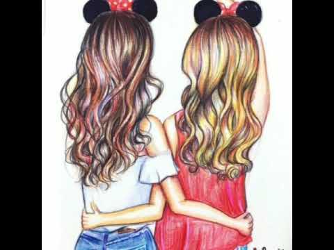 drawings friend cute short friends bff drawing