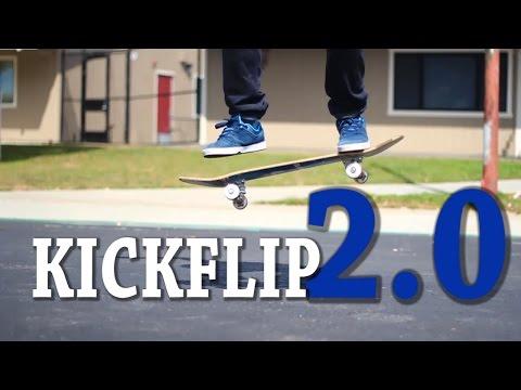 HOW TO KICKFLIP THE EASIEST WAY TUTORIAL 2.0