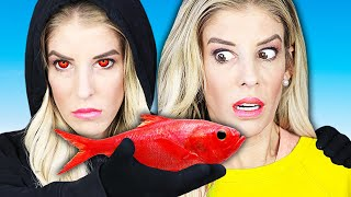 Eating Only One Color Food Challenge for 24 Hours! (Bad Idea) Rebecca Zamolo