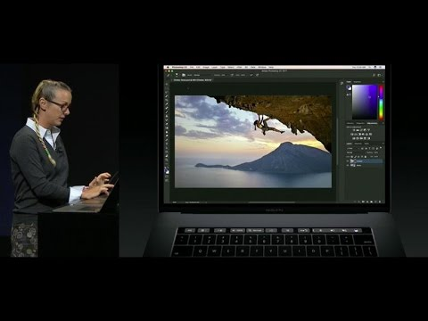 Apple's new Touch Bar works with Photoshop (CNET News)