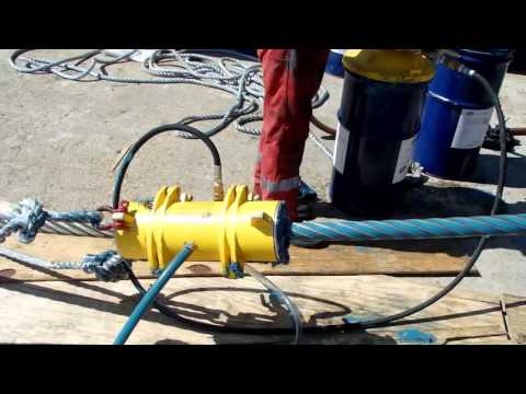 Kirkpatrick Wire Rope Lubrication Systems Model JU120: Crane Hoist Rope Maintenance