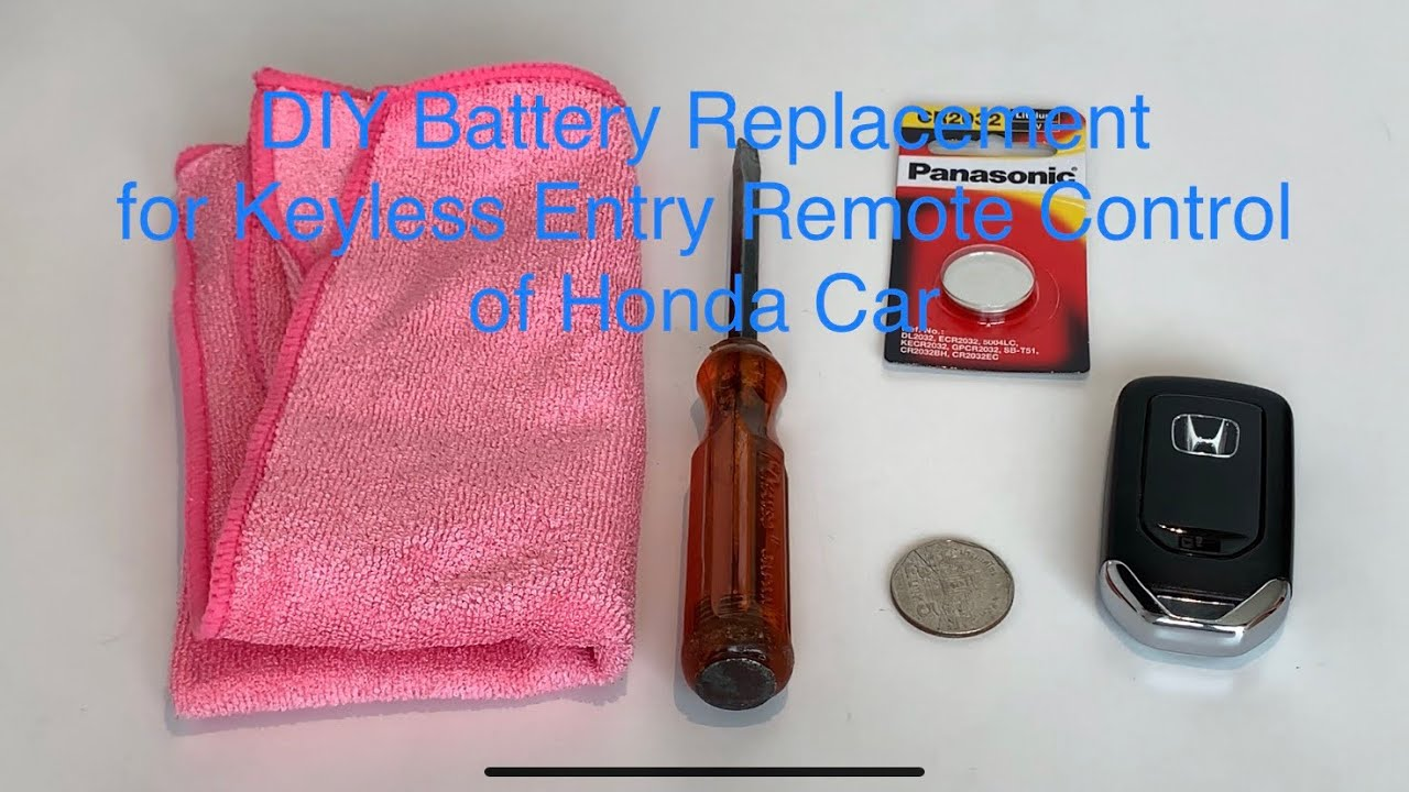 DIY Battery Replacement for Keyless Entry Remote Control of Honda Car