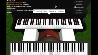 Sword art online Crossing field [Roblox - Virtual Piano]