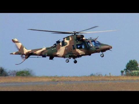 SAAF Agusta A-109 LUH  Landing at Zwartkop AFB South Africa