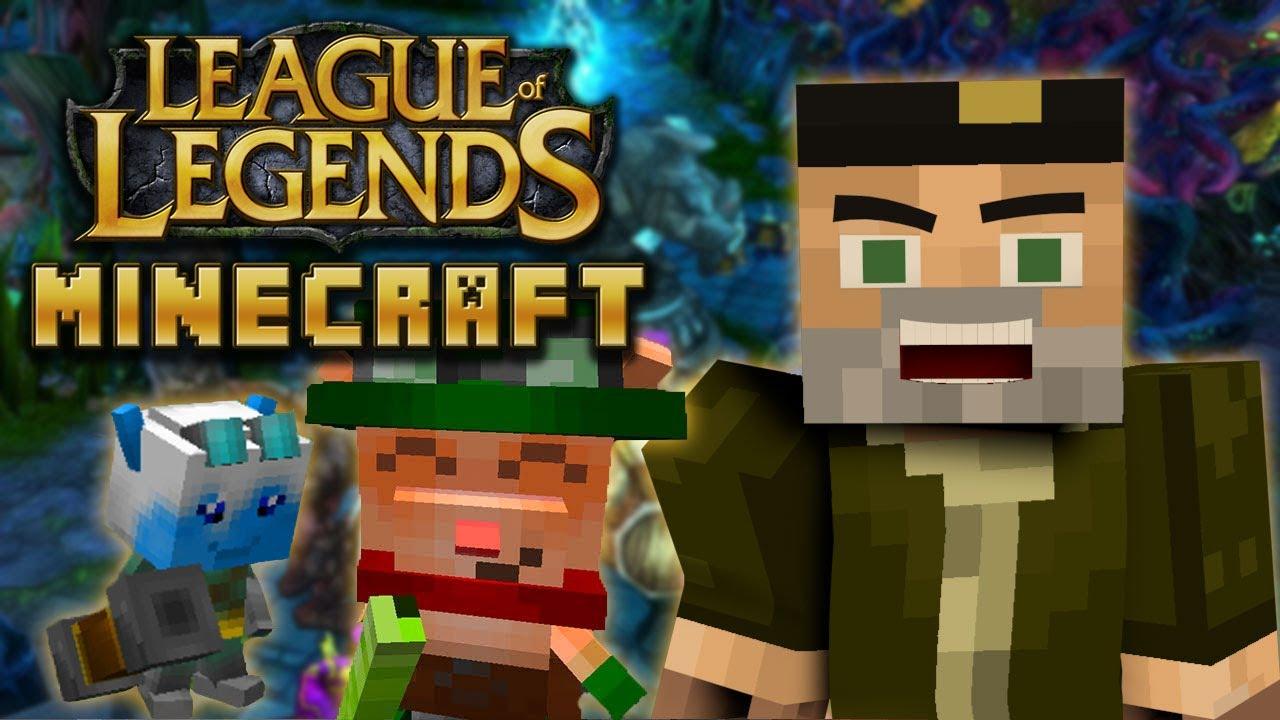 LEAGUE OF LEGENDS MOD | MINECRAFT LOL MOD REVIEW