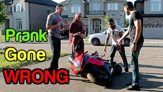 THEY DROPPED MY MOTORCYCLE (Prank Gone Wrong!!)