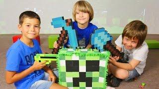 Minecraft çizgi film oyuncakları ile oyun