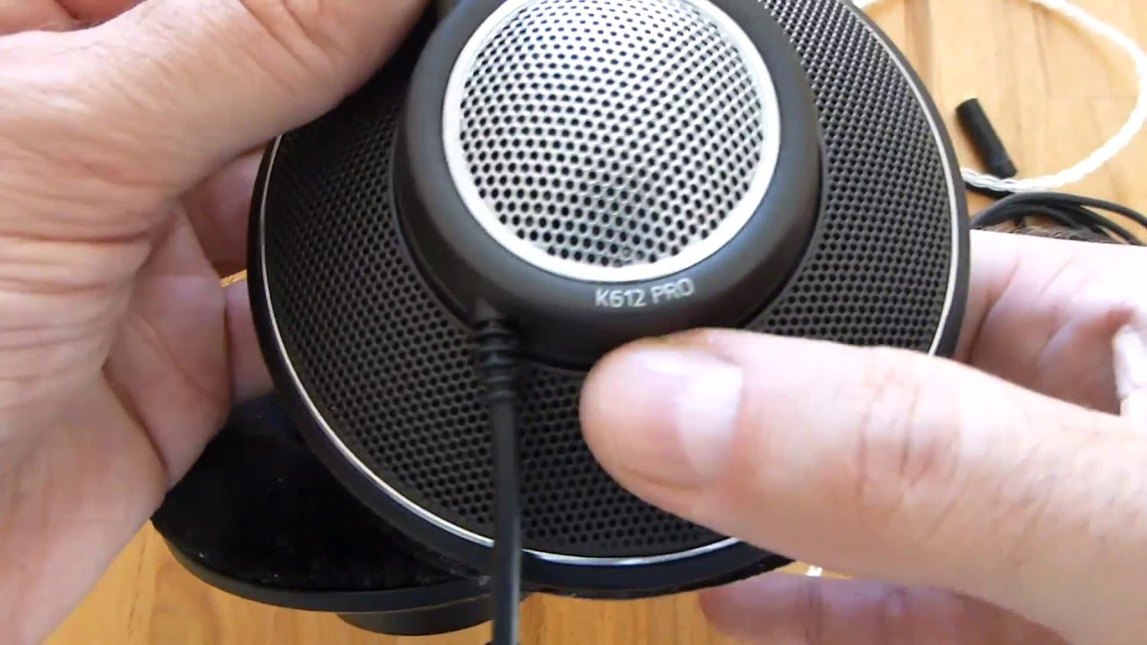 AKG K612 PRO Detachable Cable Mod with DIY OCC Headphone Cable.