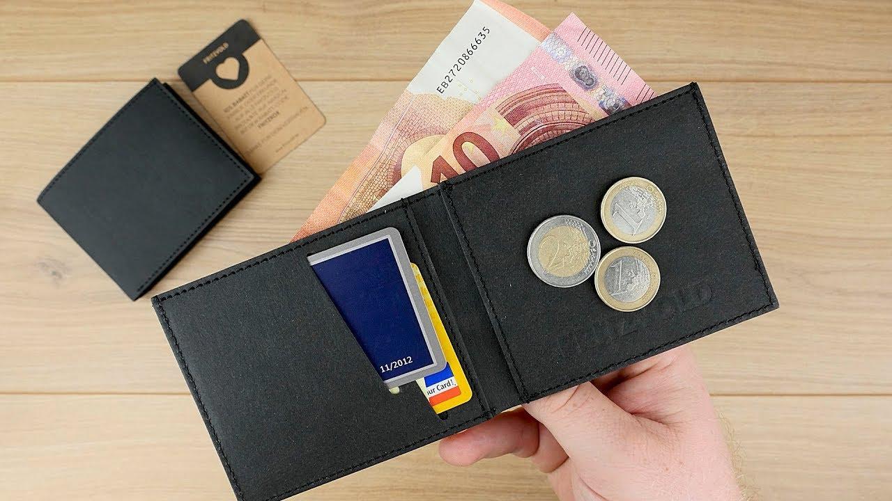 be9e36d1545d5 MINIMAL Wallet aus innovativem veganen Papier-Kunstleder von Fritzvold     Slim Wallet    DEUTSCH