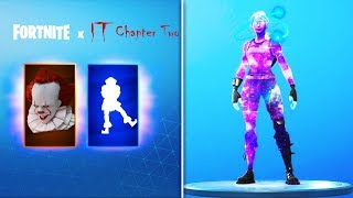 "*NEW* ""IT 2"" REWARDS LEAKED, Female Galaxy SKIN, & New Charm Cosmetics (Fortnite News)"