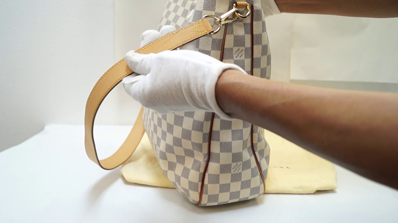 dee2aba0c E4791 Louis Vuitton Soffi Satchel White Damier Azur Canvas Hobo AH1113.  Dallas Designer Handbags