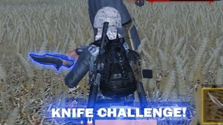 KNIFE ONLY! Lawan bos zombie di Pubg mobile wtf funny lucu| Tonton full di link comment!!