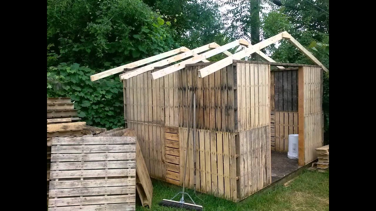 Our First Pallet Shed Youtube