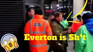Everton fans leave at HALF TIME after first half Thrashing by Arsenal