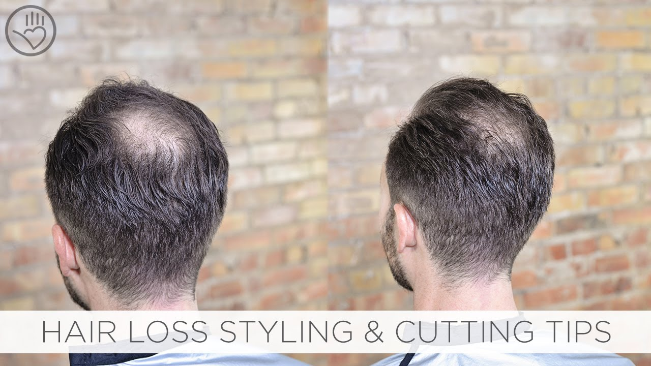 how to cut & style balding or thinning hair - youtube