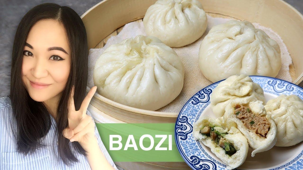 REZEPT: Baozi | gedämpfte gefüllte asiatische Teigtaschen | Dim Sum | original chinesisch