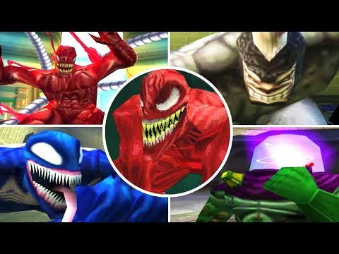 Download Spider-Man All Bosses | Boss Fights (PS1) 1080p