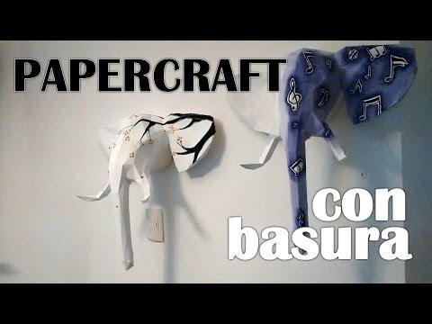 Papercraft #099 PAPERCRAFT DE ELEFANTE (con cajas de ARV) -  VIH+ en actividad