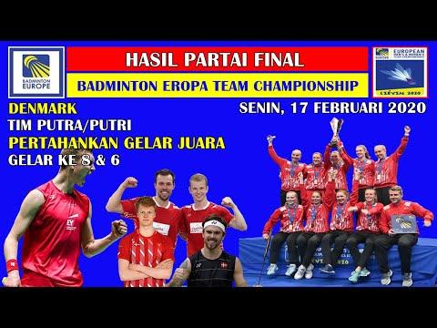 Hasil Final Badminton Eropa Team Championship 2020 ~ Denmark Kawinkan Gelar Juara Eropa Team 2020