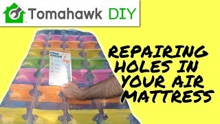 Find and Fix a Hole in an Air Mattress - Easy to Stop Leak