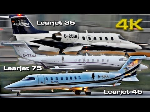 Learjet Private Jet [4K] 35 , 45 and 75 (VLC& ALC)